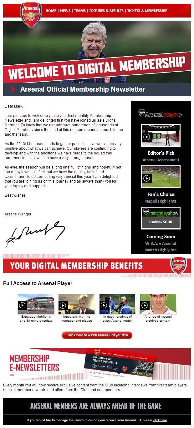 Arsenal-Welcome
