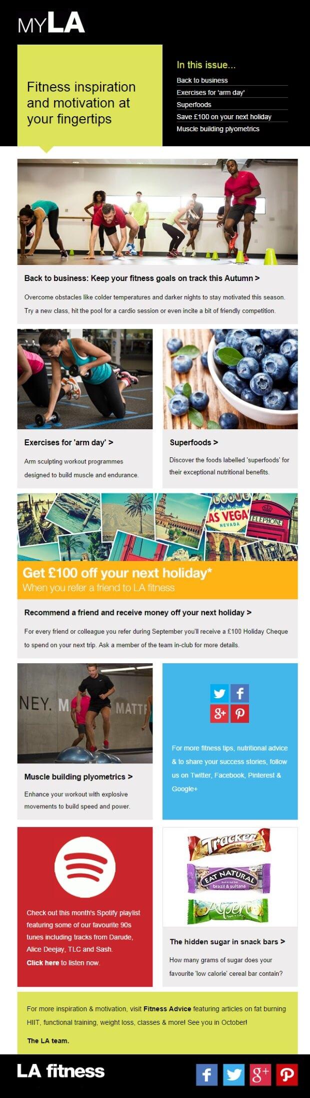 LA Fitness Email Design